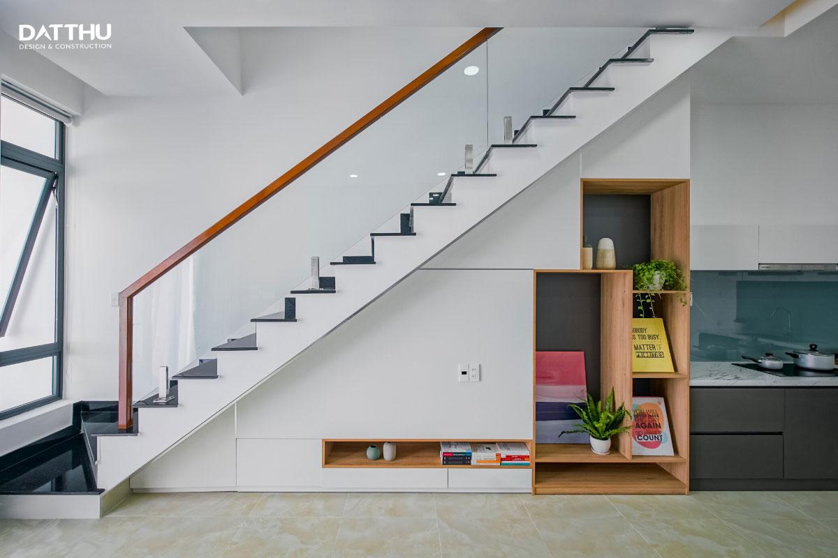 Mẫu nhà phố 2 tầng hiện đại - thiết kế cầu thang