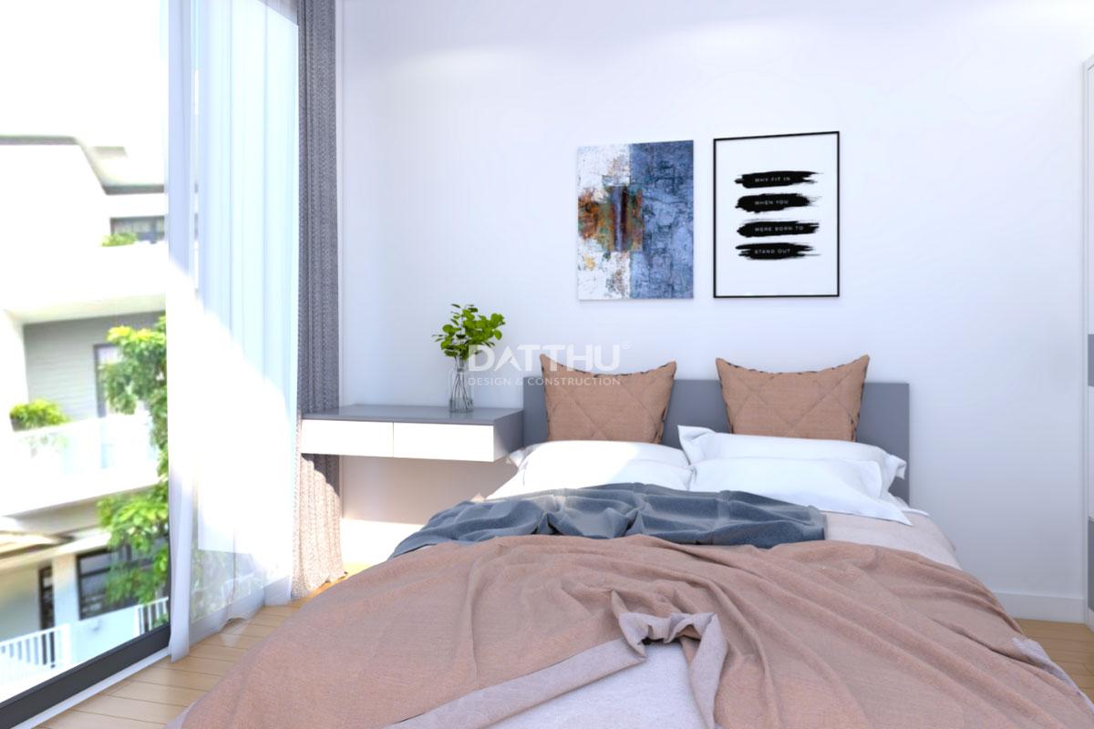 Mẫu thiết kế nhà phố 2 tầng - phòng ngủ