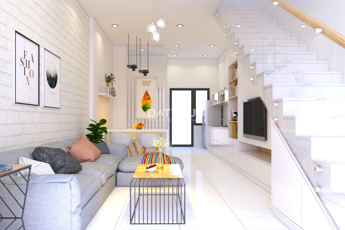 Mẫu thiết kế nhà phố 2 tầng - phòng khách