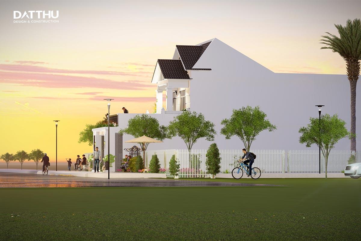 Mẫu nhà 2 tầng mái thái | Đất Thủ