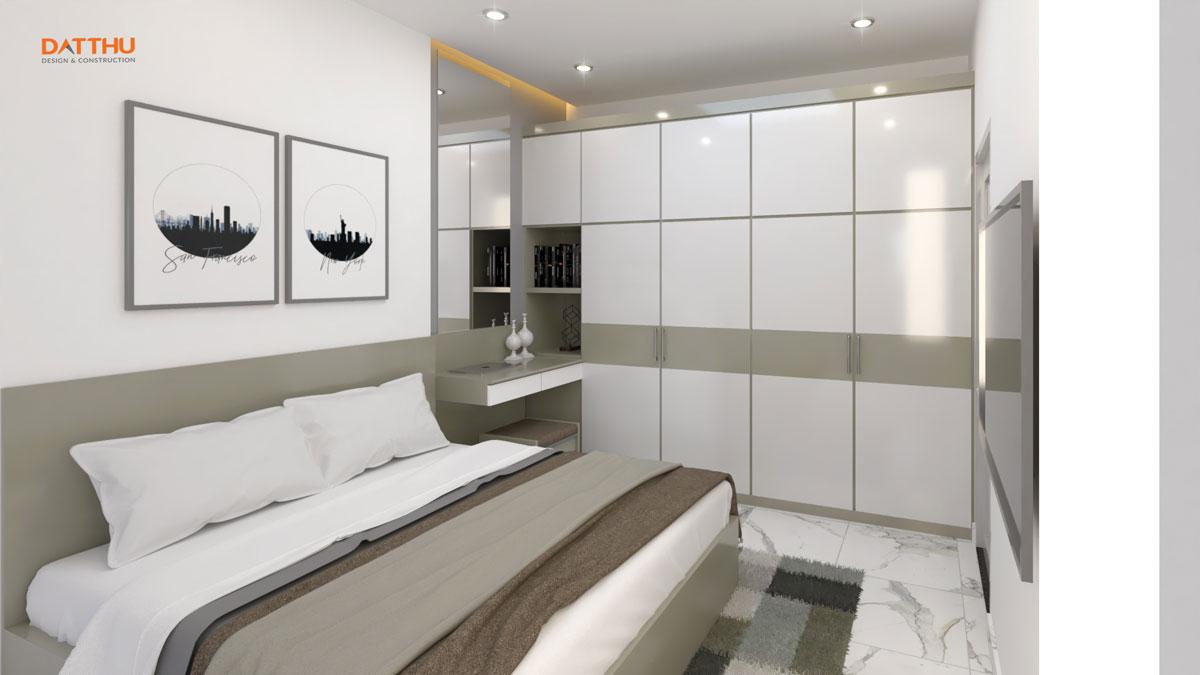 Nhà phố 2 tầng mái thái - phòng ngủ