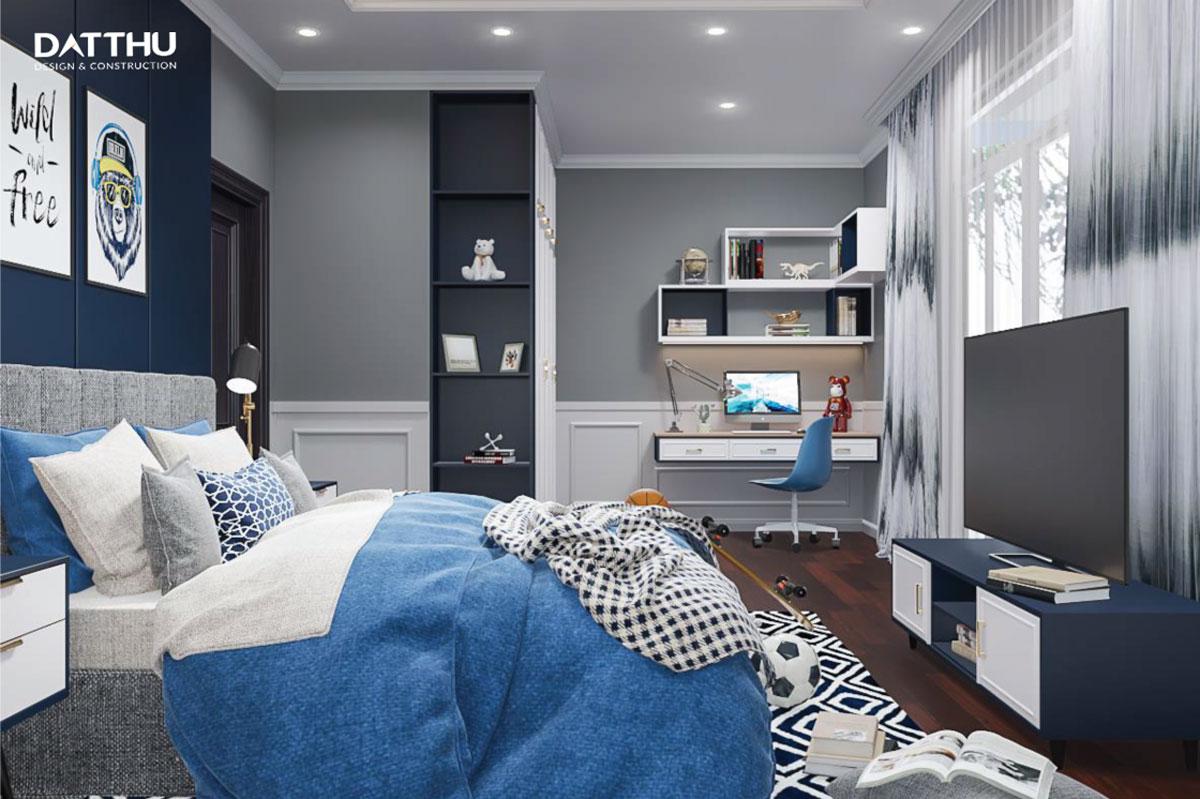 Phòng ngủ cho bé trong biệt thự 3 tầng