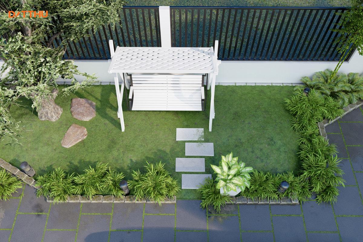 Mẫu sân vườn đơn giản