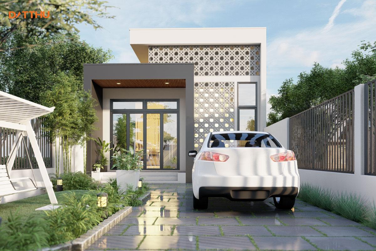 Thiết kế 3D nhà cấp 4 của Đất Thủ