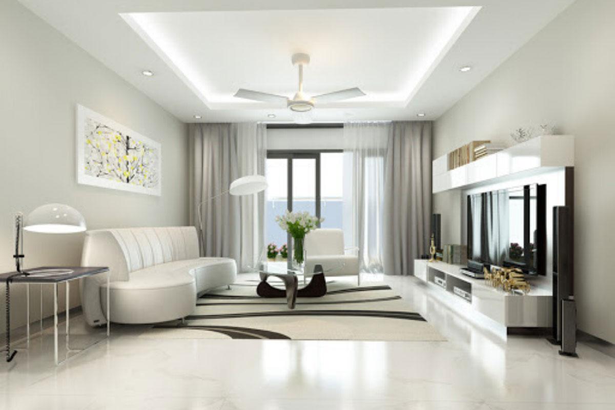Màu sắc giản đơn sẽ trông không gian ngôi nhà sáng hơn