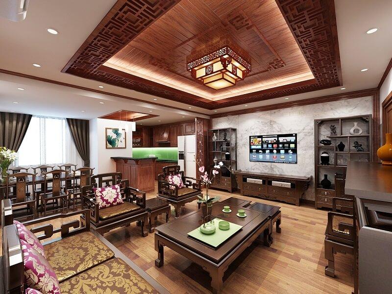 Thiết kế phong cách cổ điển đặc trưng châu Á