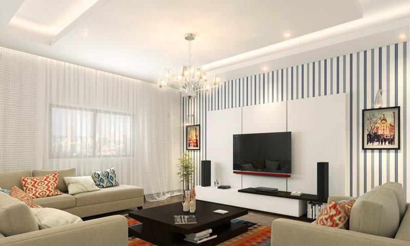 Thiết kế phòng kháchđơn giản hiện đại