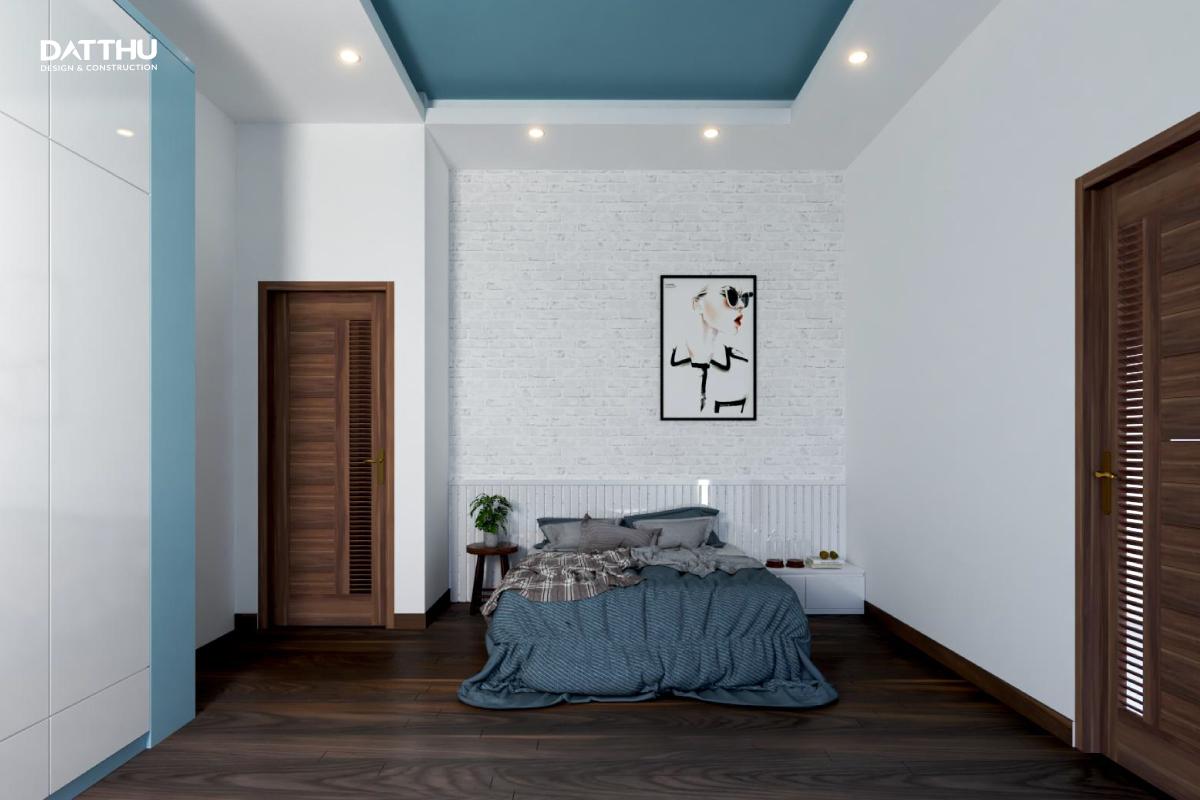 Phòng ngủ bé trai với tone màu nhẹ nhàng