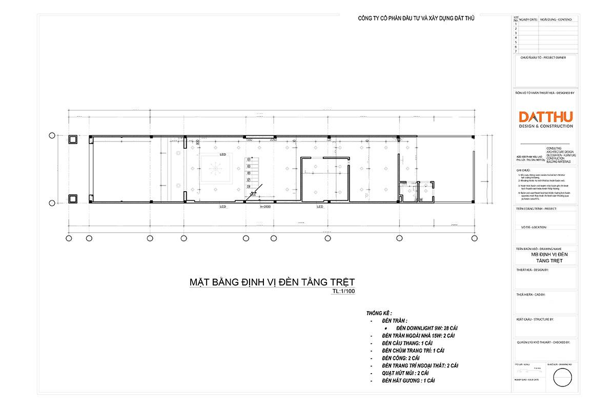 Hồ sơ thiết kế hệ thống kỹ thuật nhà ở