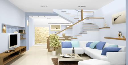 Chọn sơn tường màu sáng để mở rộng căn phòng có diện tích khiêm tốn