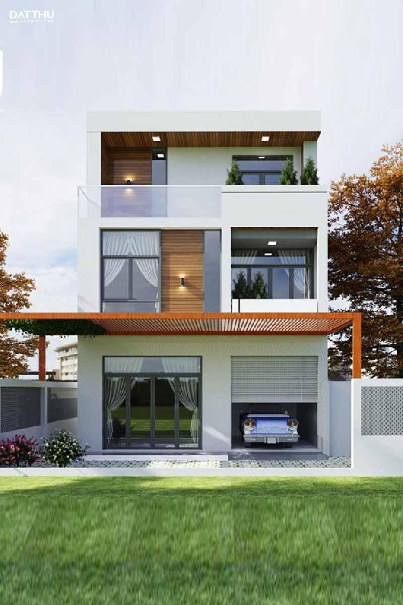 Mẫu nhà 3 tầng với diện tích nhỏ