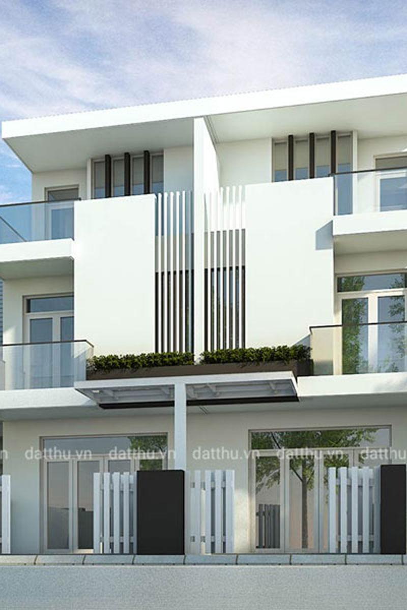 Nhà 3 tầng tối giản