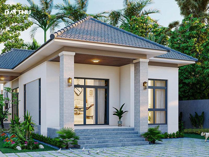 Mẫu biệt thự vườn phong cách tối giản