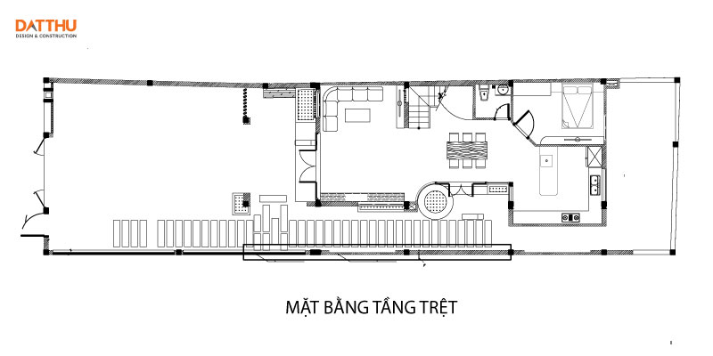 Bản vẽ nhà có tầng tum