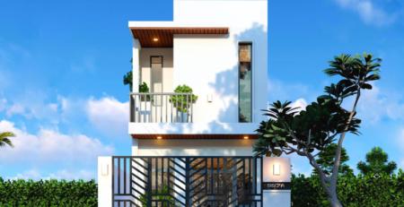 Nhà 2 tầng đẹp đơn giản