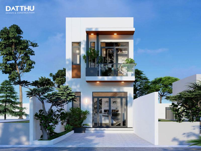 Nhà 2 tầng đơn giản đẹp thanh thoát