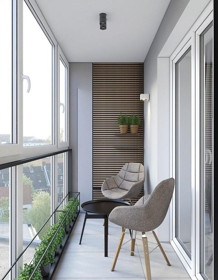 Tối giản mà tinh tế, hiện đại. Mẫu thiết kế đáng tham khảo cho ban công nhà phố và chung cư.