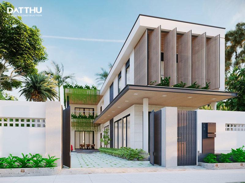 Nhà vườn 2 tầng hiện đại