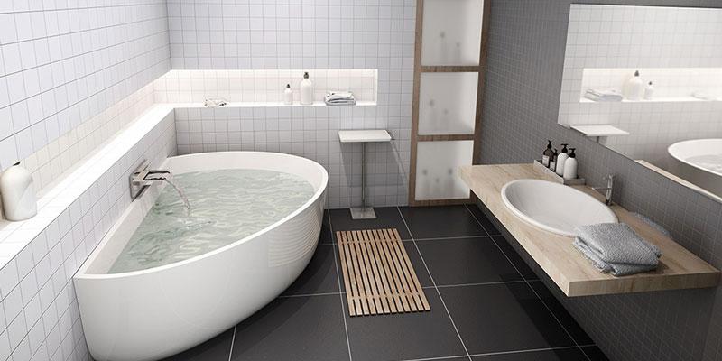 Mẫu Bồn Tắm Cho Phòng Tắm Nhỏ Đẹp Đơn Giản