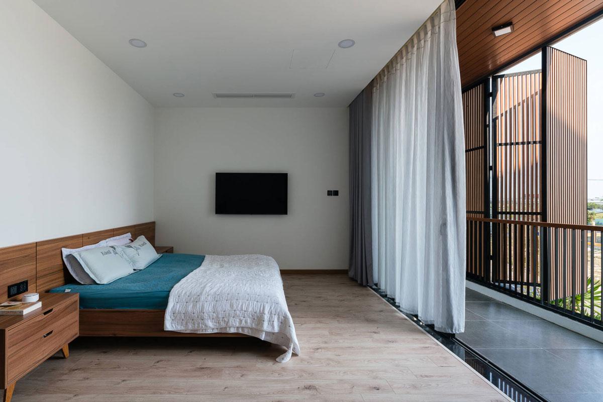 Thiết Kế Biệt Thự 4 Tầng - Phòng ngủ master