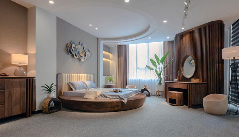 Phòng ngủ mang đến cảm giác thư giãn, hướng đến sự mộc mạc, dân dã.