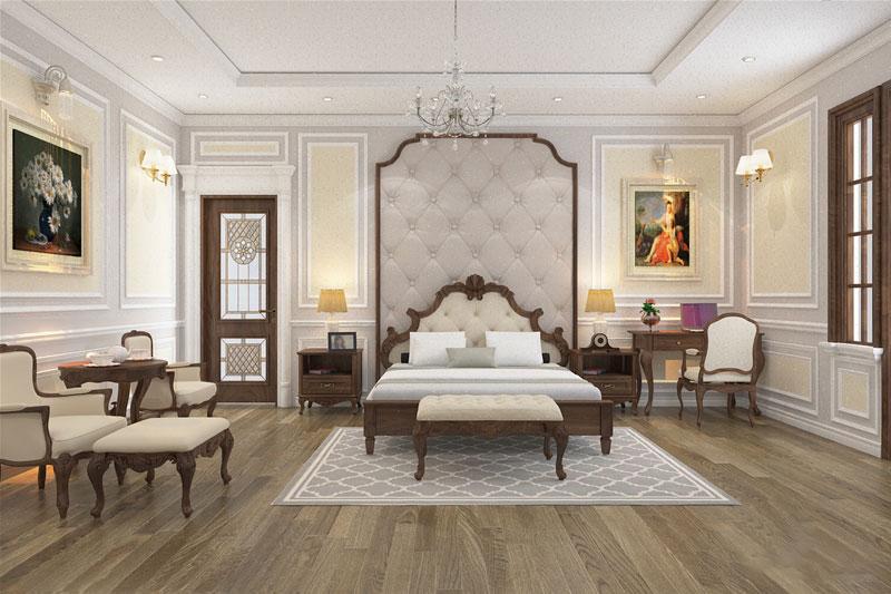 Phòng ngủ master tân cổ điển