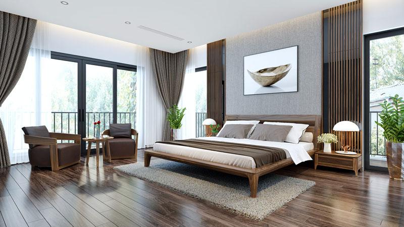 Thiết kế mở mang chủ nhân căn phòng đến gần hơn với thiên nhiên.