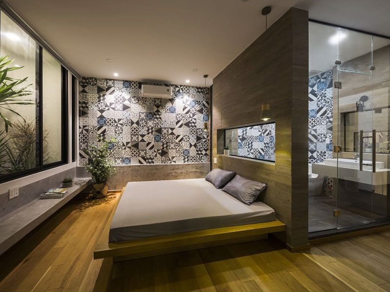 Giản lược những chi tiết không cần thiết, phòng ngủ tập trung vào công năng nghỉ ngơi, thư giãn.
