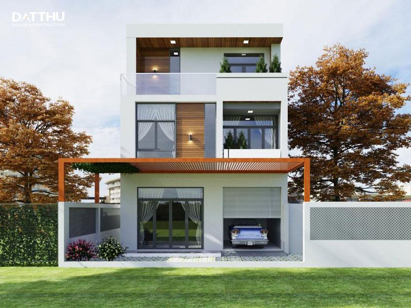 Thiết kế nhà mặt tiền 7m