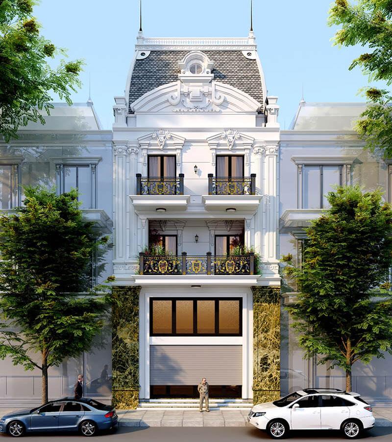 Nhà phố mặt tiền 7m Tân cổ điển