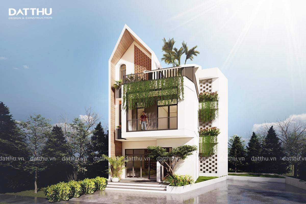 Một góc ngôi nhà mái thái hiện đại