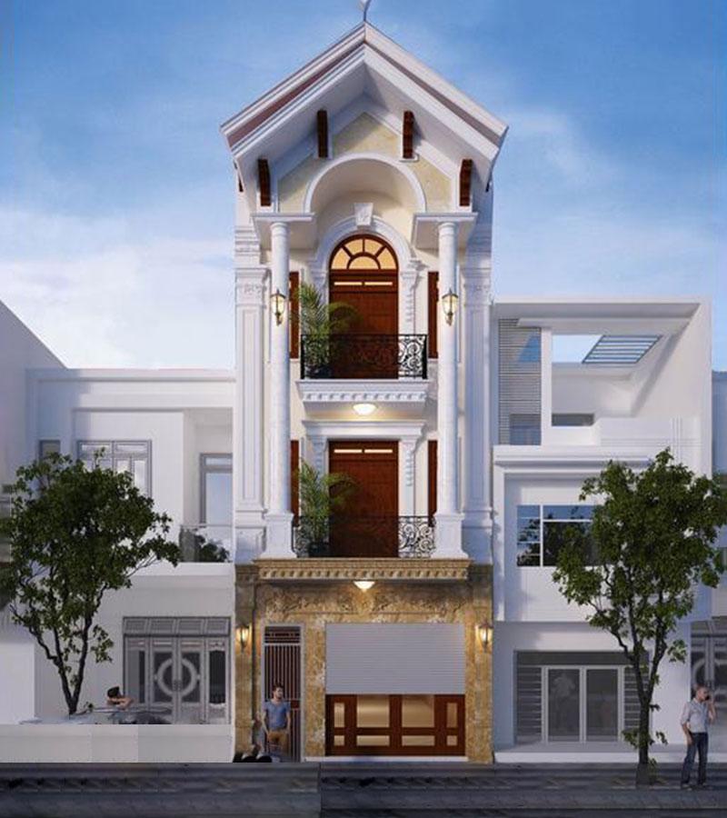 Nhà 3 tầng mái thái Tân cổ điển