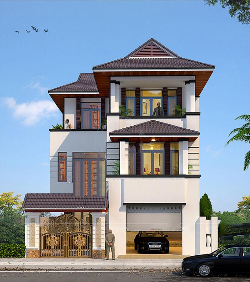 Nhà mái thái 3 tầng đẹp