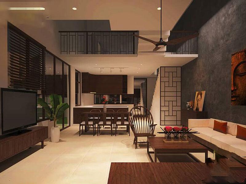 Kết hợp với phong cách thiết kế, mang đến một không gian sống đẹp truyền thống.