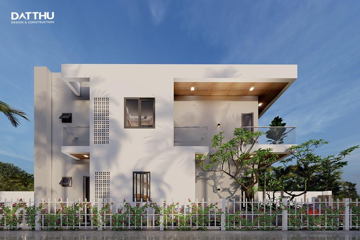 Mẫu nhà phố 2 tầng không gian xanh | Đất Thủ