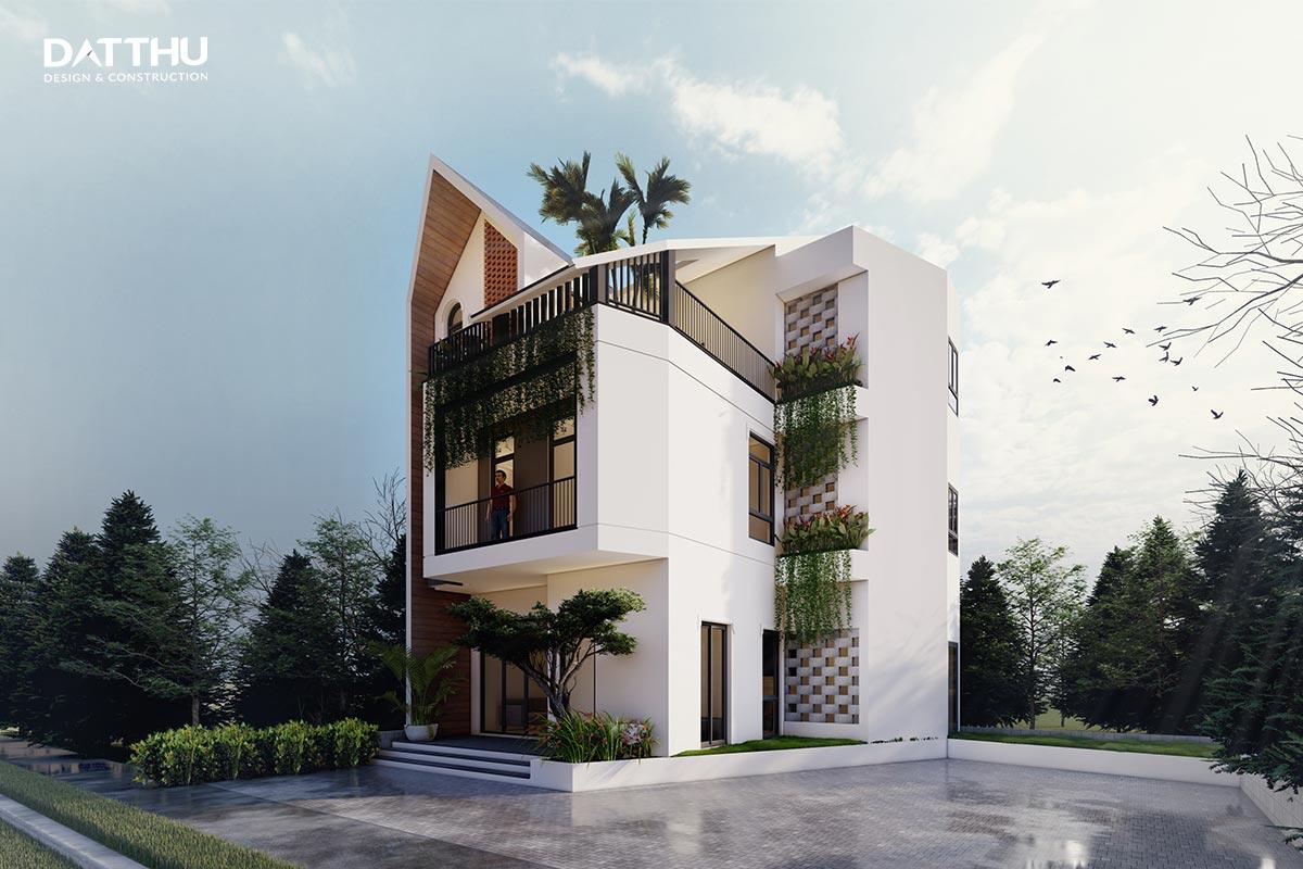 Mẫu thiết kế nhà phố 2 tầng hiện đại | Đất Thủ
