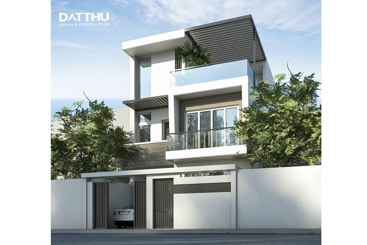 Mẫu nhà 3 tầng phong cách hiện đại