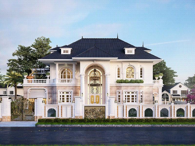 Mẫu nhà 2 tầng kiểu pháp