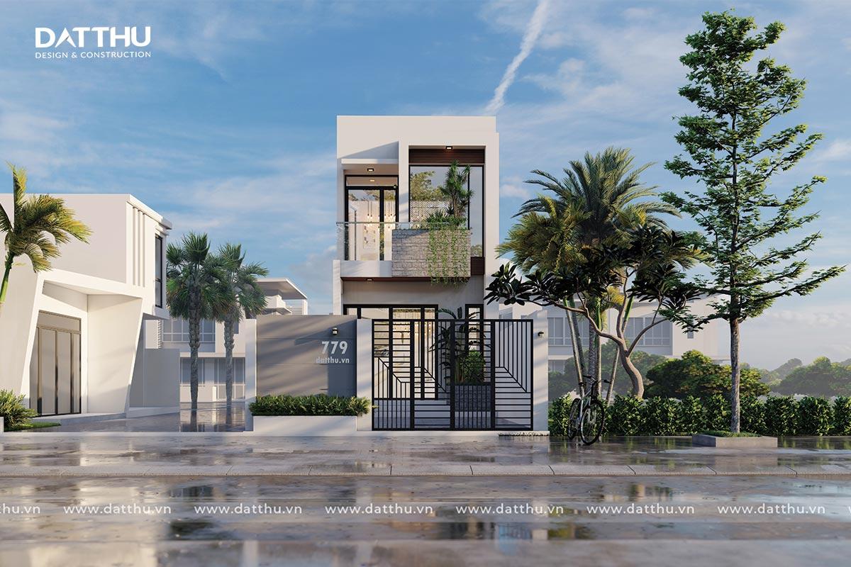 Mẫu thiết kế nhà phố 2 tầng đẹp   Đất Thủ