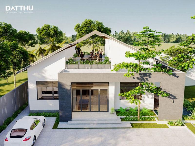 Nhà 1 tầng dạng biệt thự vườn