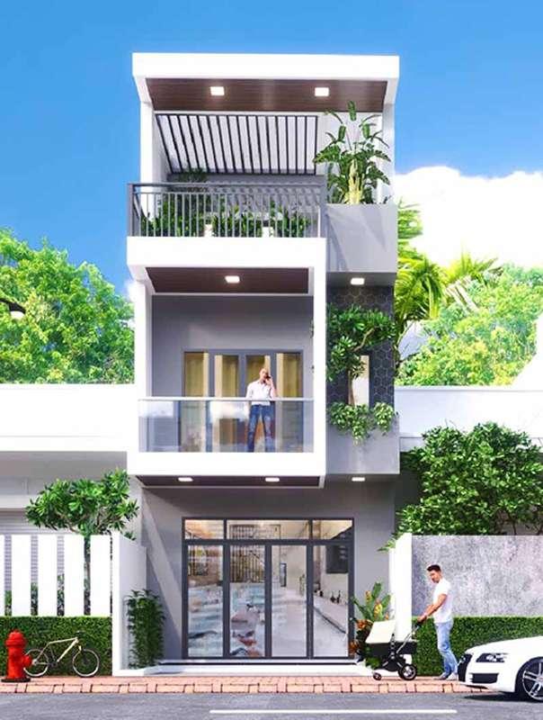 Nhà đẹp 5x12m 3 tầng tinh tế.