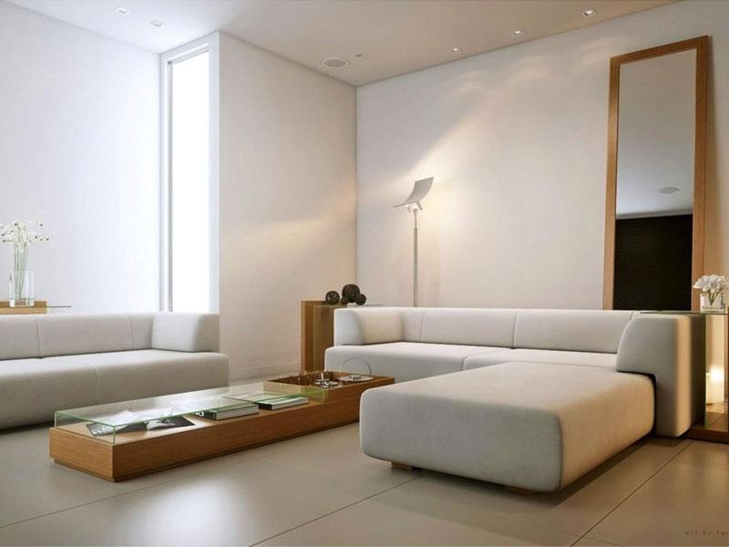 hiết kế đơn giản trong không gian sinh hoạt chung