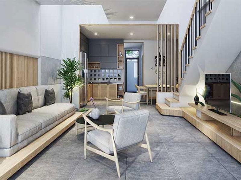 Một góc phòng khách mang phong cách Nhật