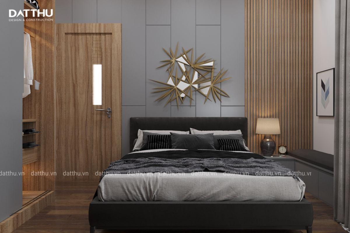 Phòng ngủ mang phong cách góc cạnh