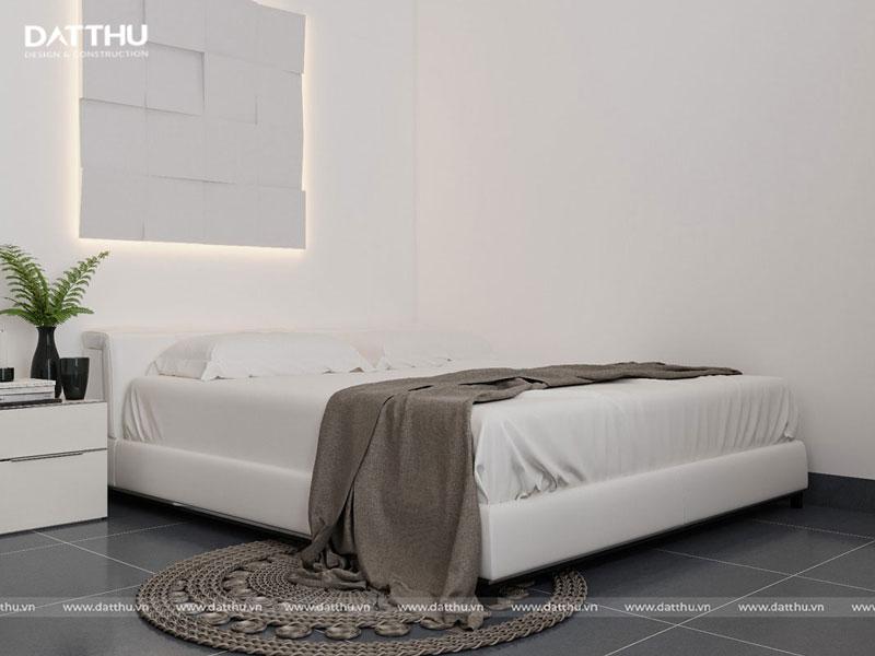 Một góc phòng ngủ trong nhà mặt tiền 5m