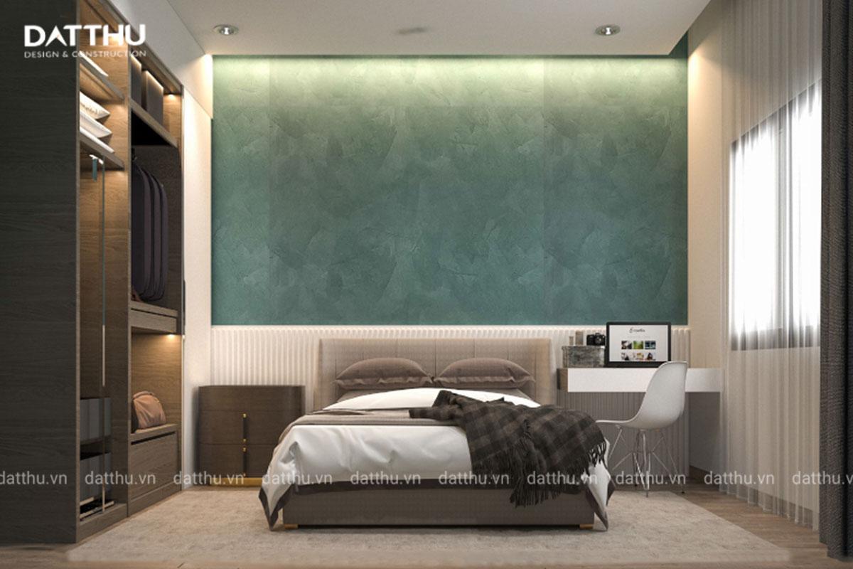 Phòng ngủ không quá rộng nhưng vẫn đảm bảo tiện nghi