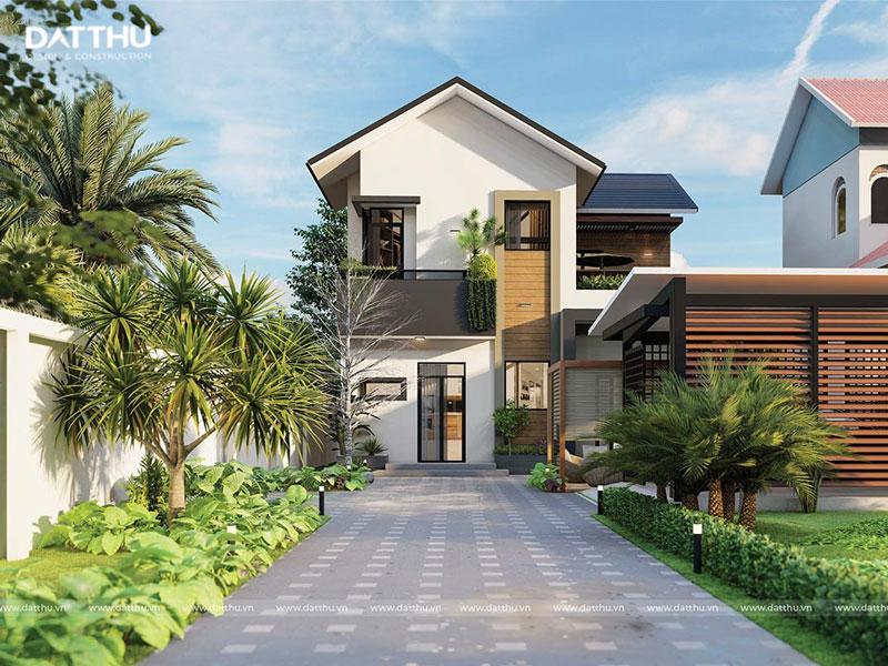 Nhà vườn 2 tầng mái thái