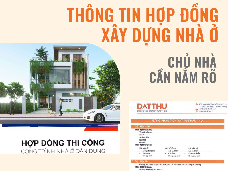 Hợp đồng xây dựng nhà ở.