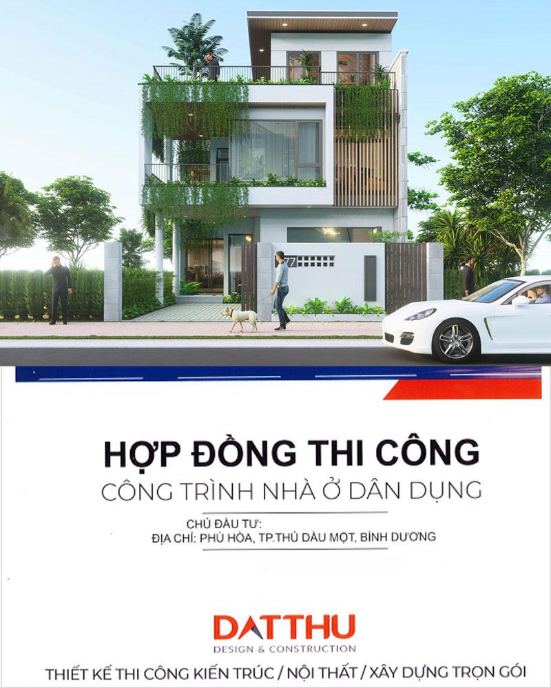 Hợp đồng xây dựng nhà ở tại Đất Thủ.