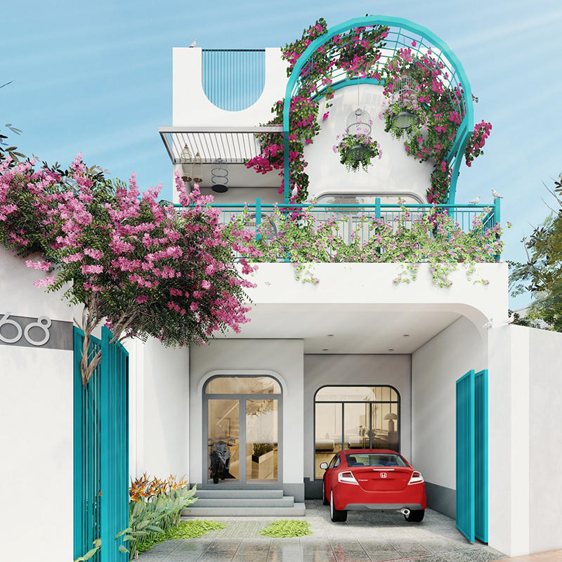 Nhà phố 2 tầng phong cách Địa Trung Hải